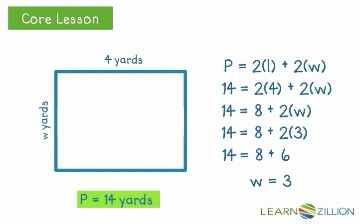 Find Missing Side Lengths Using The Formula For Perimeter Learnzillion