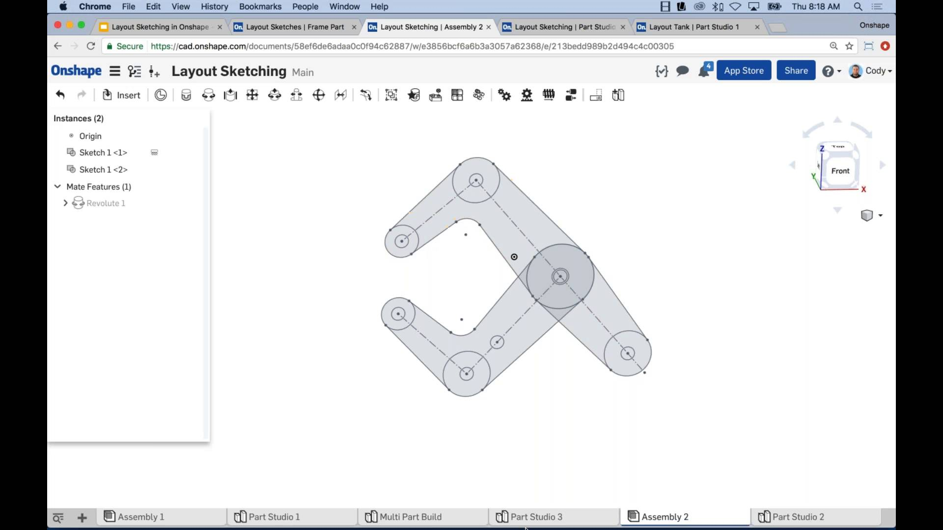 Layout Sketching in Onshape on