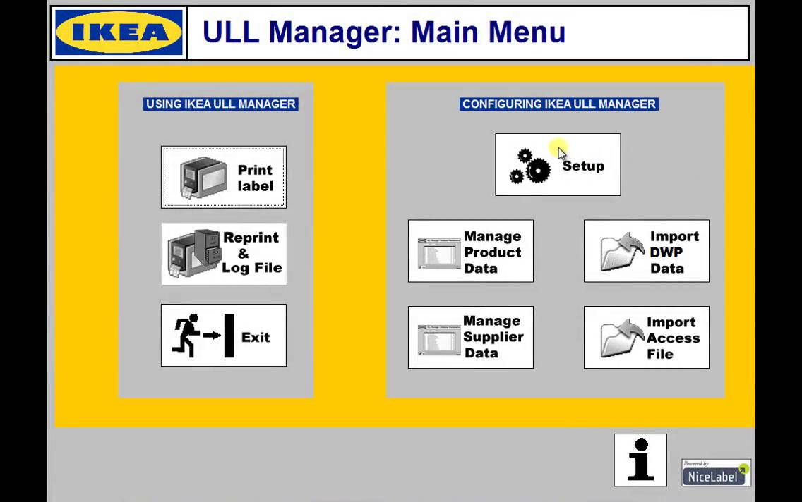 IKEA ULL Manager | NiceLabel