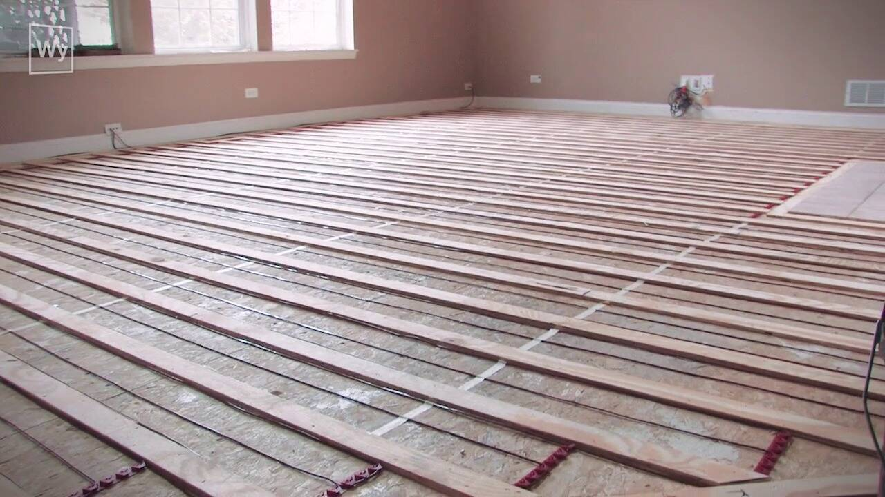 Electric Radiant Heating Under Nailed Hardwood