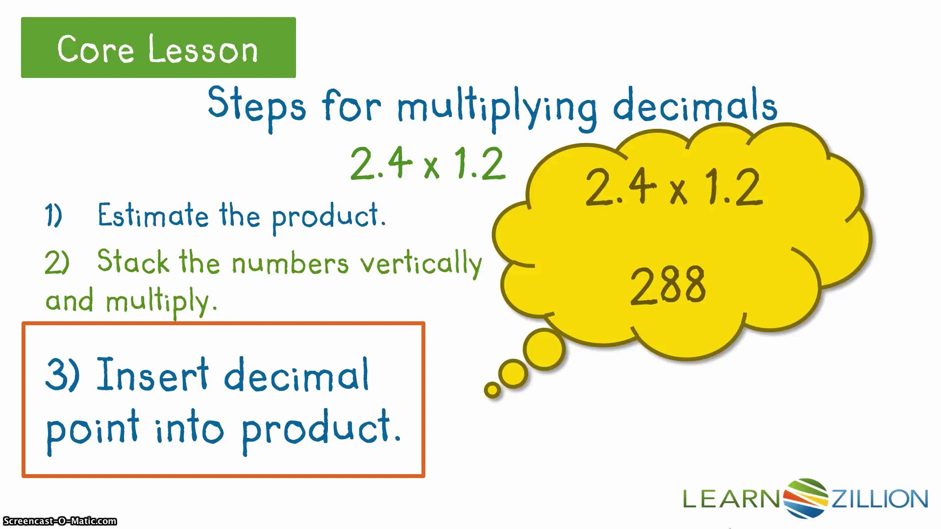 worksheet How Do You Multiply Decimals multiply decimals learnzillion